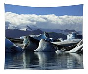 Panoramic View Of Icebergs And Glaciers Tapestry