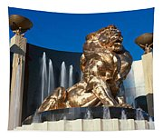 Panoramic View Of Mgm Lion And Mgm Tapestry