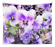Pansies Watercolor Tapestry