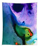 Paradise Found - Colorful Abstract Painting Tapestry