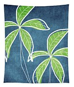 Paradise Palm Trees Tapestry by Linda Woods