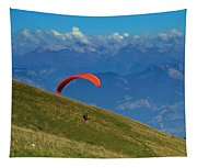 Paragliding In The Mountains Tapestry