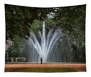Parc De Bruxelles Fountain Tapestry