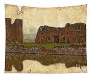 Parchment Texture Kirby Muxloe Castle Tapestry