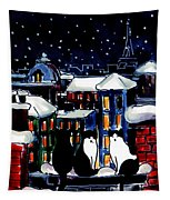 Paris Cats Tapestry