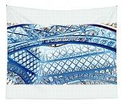 Paris Design In Blue Tapestry