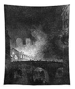 Paris, France Fire, 1773 Tapestry