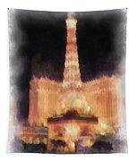 Paris Las Vegas Photo Art Tapestry