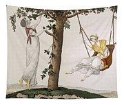 Parisian Ladies At Montmorency, Plate Tapestry