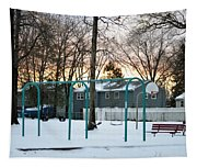 Park In Winter Tapestry