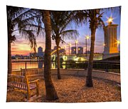 Park On The West Palm Beach Wateway Tapestry