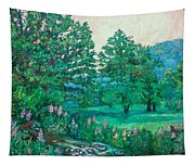 Park Road In Radford Tapestry