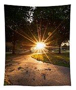 Park Sunburst Portrait Tapestry
