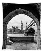 Parliament Through An Archway Tapestry