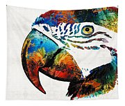 Parrot Head Art By Sharon Cummings Tapestry