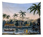 Part Of The Village Of Matavae, Coconut Tapestry