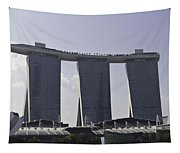 Partial View Of The Artscience Museum And The Marina Bay Sands Tapestry