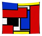 Partridge Family Abstract 1 C Square Tapestry
