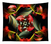 Passionate Love Bouquet Abstract Tapestry