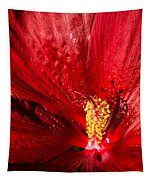 Passionate Ruby Red Silk Tapestry