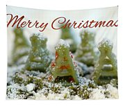 Pasta Christmas Trees With Text Tapestry