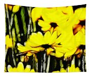 Pastel Flowers Tapestry