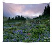Pastel Mountain Dawn Tapestry
