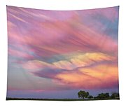 Pastel Painted Sunset Sky Tapestry