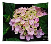 Pastel Pink Hydrangea Tapestry