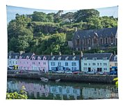 Pastel Rowhome In The Bay Highlands Scotland Tapestry