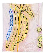 Pastel Seahorse In Lights  Tapestry