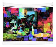 Patchwork Kitty Tapestry
