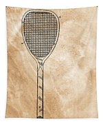 Patent Art Tennis Racket Tapestry by Dan Sproul