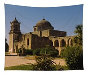 Path In Front Of A Church, Mission San Tapestry