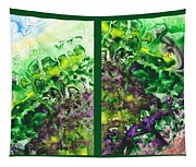 Path To The Unknown Diptych In Green Tapestry