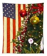 Patriotic Christmas Tapestry