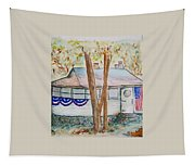 Patriotic Cottage Tapestry