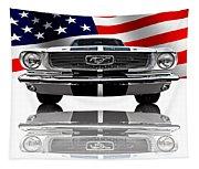 Patriotic Ford Mustang 1966 Tapestry