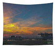 Patriots Point Sunset Tapestry