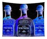 Patron Tequila Black Light Tapestry