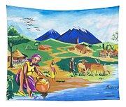 Paysage Du Nord Du Rwanda Tapestry
