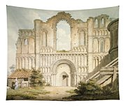 Pd.56-1958 West Front Of Castle Acre Tapestry