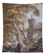 View Of The Old Welsh Bridge Tapestry