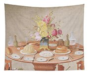 Pd.869-1973 Still Life With A Vase Tapestry