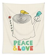 Peace And Love Tapestry