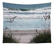 Peace At The Beach Tapestry