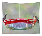 Peace At The Feeder Tapestry