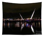 The Peace Bridge At Night Tapestry