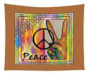 Peace In Every Color Tapestry