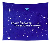 Peace On Earth Card Tapestry